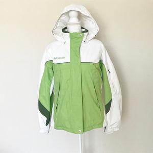 Columbia Women's Green Parka Coat Waterproof Sz M